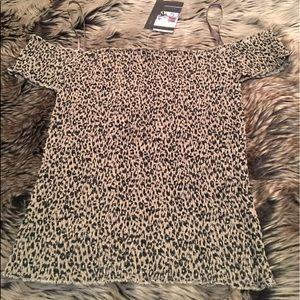 Lucca Couture Stretch Cheetah Top NWT!!!